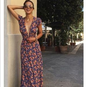 Tularosa Floral Wrap Dress